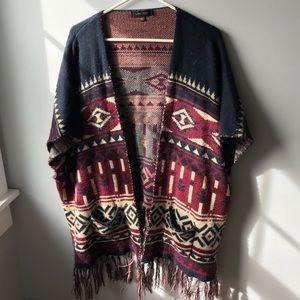 LoveTree Tribal fringe Cardigan